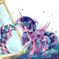 Through The Cracked Mirror party 5 MLP by AquaGalaxy