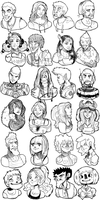 People and their Faces by SteedAngus