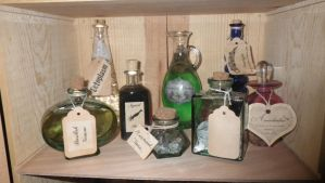 The finished bottles top shelf by Bwabbit