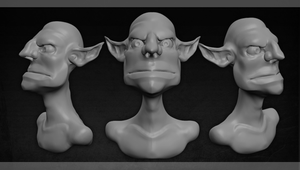 Game Artisans 1 Hour Sculpt:4 by ShadowNami92