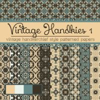Free Vintage Handkies 1 Patterned Papers by TeacherYanie