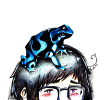 Worry is a frog on your head by xenaferetek