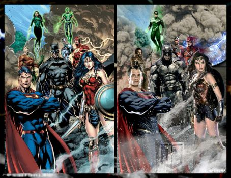 Justice League Comparison by zg01man