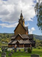stave church Heddal by Sockrattes