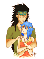 Gajeel and Levy by CelestialLullaby