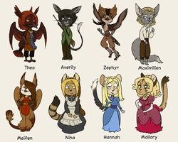 Character doodle set III by Mayocat