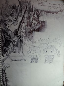 Sketchbook 014: You are on fire by Cynic-Al