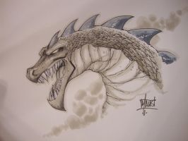 Dragon sketch by Maus by billmausart