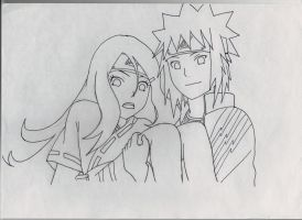 Request: Kushina and Minato lineart by LileoDark