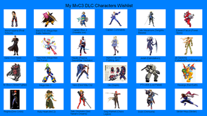 My MvC3 DLC Chars Wishlist by waraulol