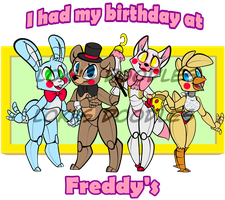 birthday at freddy's by Lokis-Doodles