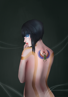 The girl with the scarab tattoo - Neith by Mike-MM