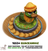 Daily Painting 1653# - Quackamole by Cryptid-Creations