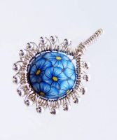 Polymer Clay Wire Wrap Pendant by Create-A-Pendant