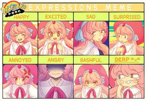 PKJP // expressions meme by pepaaminto