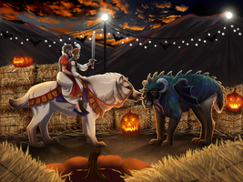 Battling the Dragon by sealle