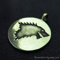 Bronze House Stark pendant by Sulislaw