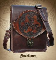 Celtic Horse Shoulder Bag by Blackthornleather