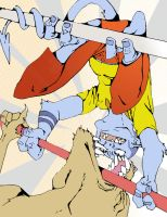 Jeff-crawler Vs Wolfman by Ryanmaster