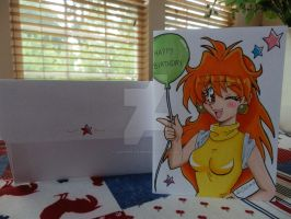 Lina Inverse Birthday Card 3 by LadyNin-Chan