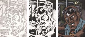 Warriors Sketch Card 6 Steps by The-Real-NComics