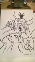 BronyCon 2015 Sketch- Awkward Noms by LateCustomer