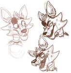 Foxy sketches by purplecrystaldragon