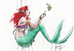 Ariel inspired mermaid by Gekroent