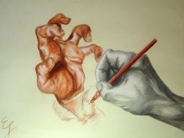 A Hand drawing a Hand... by EduardoSouza