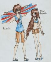 Australia and Sister Australia by bailey1rox