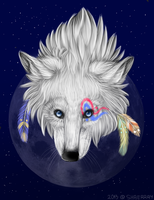 Indian Wolf by Shaerray