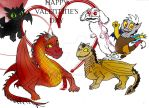 Toddler Dragons Valentine by Selinelle