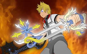 Two Keyblades by frozen--phoenix