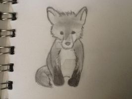 Baby Fox by WolfLover0925