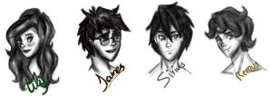 Young Marauders  and Lily by Britaisybabe