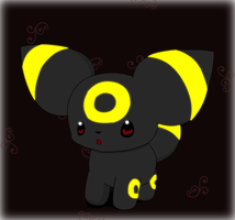 Chibi Chibi Umbreon by PokeHihi