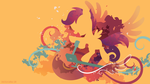 Scootaloo Silhouette Wall by SpaceKitty
