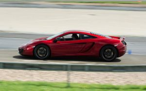 McLaren MP4-12C, red, panning by FurLined