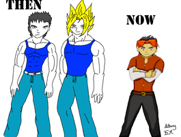 Anthony then and now by fighterxaos