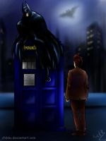 Batman and 11th Doctor by ChikKV
