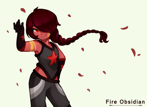 Fire Obsidian by uzuluna