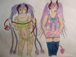 Kinti and Yuhki Beleeza the Imp twins by TrueRageXRT