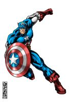 Captain America by THExEVILxTW1N