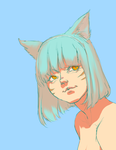 blue green miqote by cactuar
