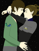 Vulcan Romulan Love by THUNDRkitty