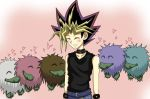 Yami and the Kuriboh brothers by Beastwithaddittude
