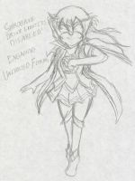 Wonder-Asuna: Unlimited Form :Sketch: by Xero-J
