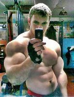 Musclemorphed SelfCam Hunk9 by free42dream