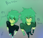 Eletron ages 15 years old to 18 years old by BaketPotato
