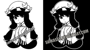 Patchouli Decal Logo Design by Suikasen
